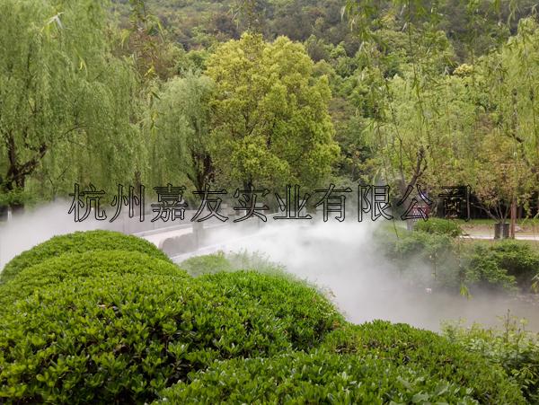 富阳东吴文化公园安装人造雾景观系统案例