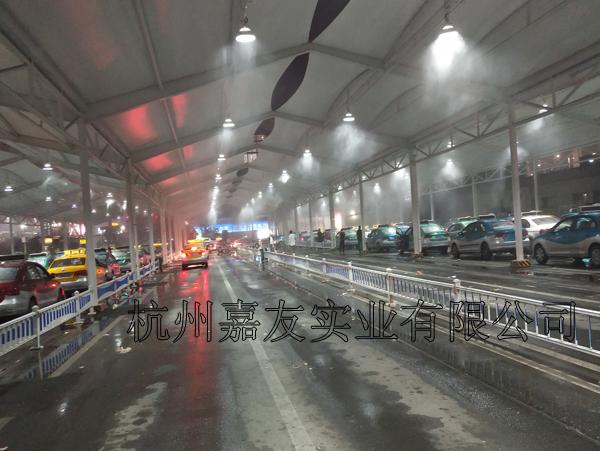 温州火车站出租车候车区喷雾降温案例